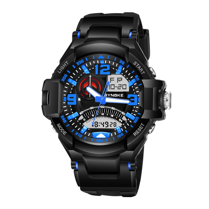 Brand Unisex Partition Digital Sports Watch Multifunctional 50M Waterproof Wristwatch LED Back Light Outdoor Watches цена и фото
