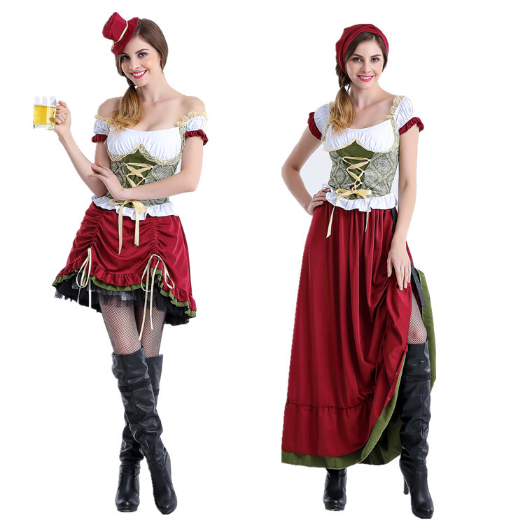 Oktoberfest clothing beer sister costumes Halloween stage clothes restaurant work clothes bar waitress