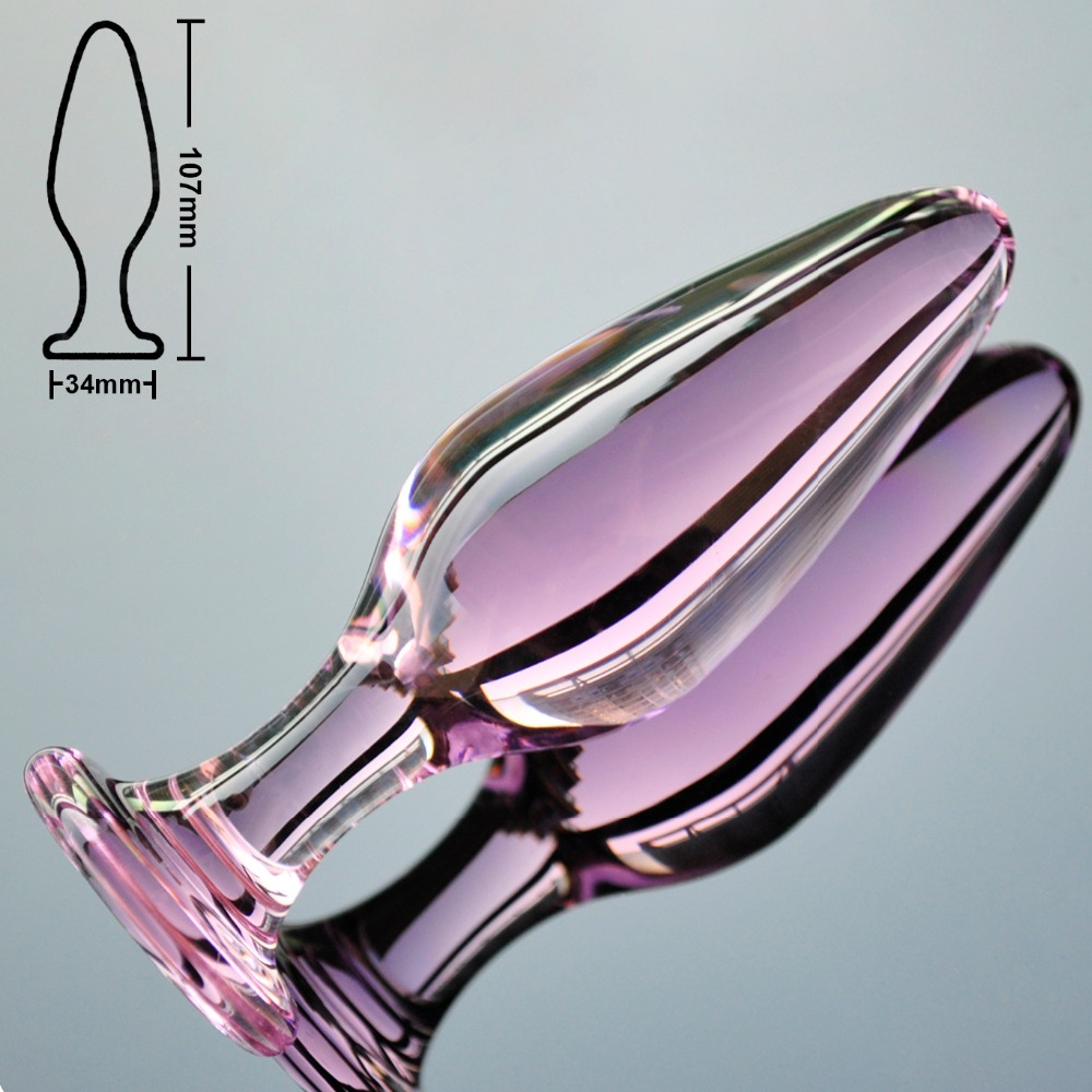 Sissy Crystal Pink Butt Plugs-7811