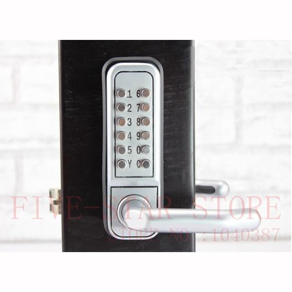 Free Shipping European Design Mechanical Password Interior Door Lock  Digital Keypad Door Handle Lock For Wooden Or Iron Doors In Locks From Home  Improvement ...