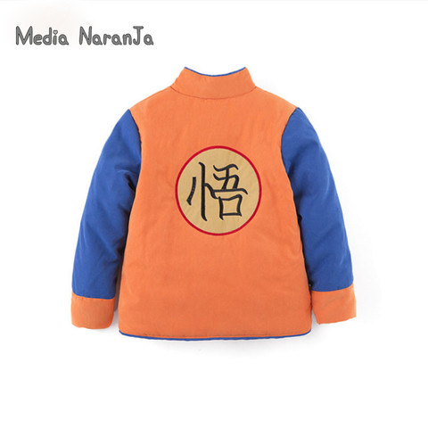 Baby Boy Goku Costume Jacket Infant Long Sleeve warm  Coat Baby children kids  Halloween Outwear Autumn Winter Jacket Karachi