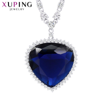 11 11 Deals Xuping Heart Shape Pendant Necklace With Synthetic CZ Jewelry For Women Christmas Day