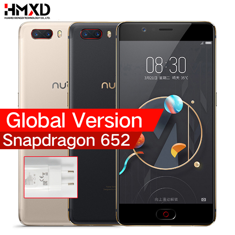 Global Version ZTE Nubia M2 4G LTE Snapdragon 625 Cell Phone 5.5 1080P 4G RAM 64GB ROM 16.0MP 3630mAh Battery Mobile Phone