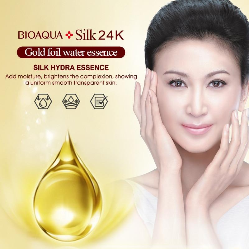 BIOAQUA Brand 24K Gold Hyaluronic Acid Liquid Skin Care Brand Moisturizing Anti Wrinkle Anti Aging Collagen Essence Cream 10ml in Serum from Beauty Health