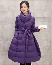 Latest Winter Fashion Women Down jacket Thicken Super warm Medium long High quality Coat Pure color Slim Big yards Coat SJ1149