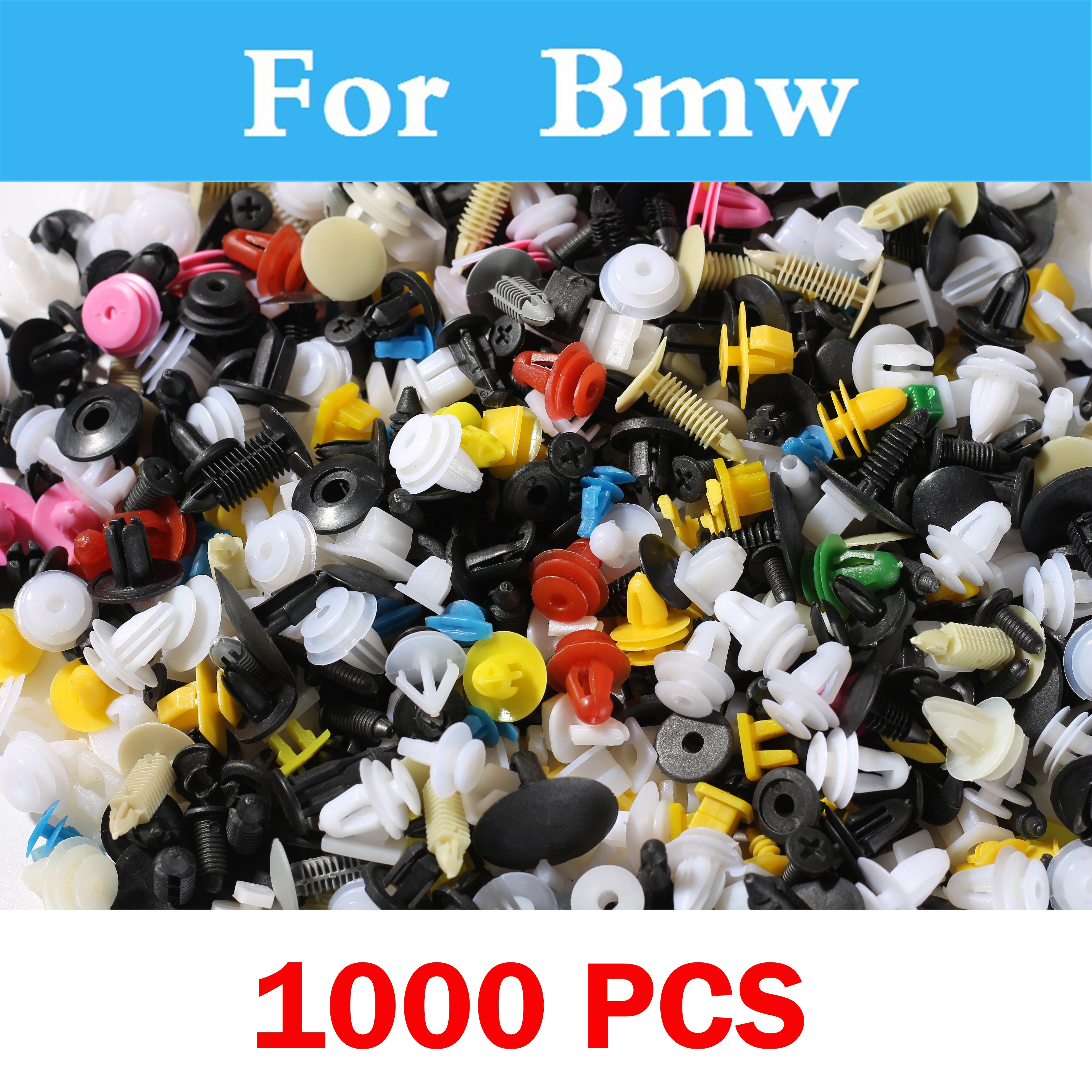 1000pcs Car Styling Mixed Door Trim Panel Push Retainer Bumper Clips General For Bmw F10 F20 Gt E46 E36 F30 X1 X3 X5 X6 E90 E60