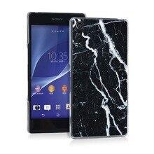 full wrap Marble Pretty Funny UV Black Bag Case For Sony Z2