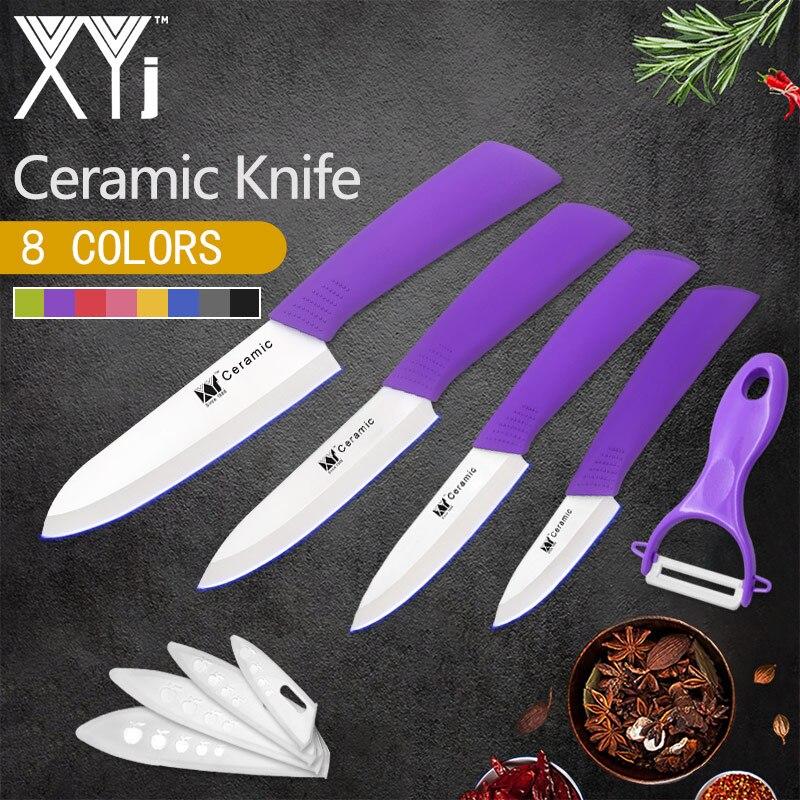 XYj Cuisine En Céramique Couteau Lame Tranchante Multi-couleurs Poignée Sushi Poissons Fromage Outils de Cuisine Set 3 4 5 6 pouces Peeer Livraison Couvre