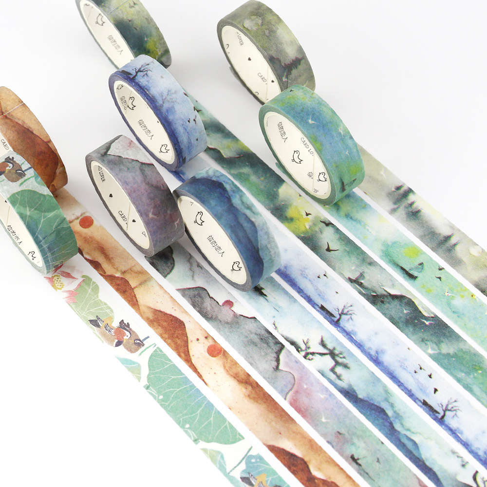 1 Pcs (Spring River Warm) 1.5cmX7m Washi Tape Children DIY Diary Decoration Masking Tape Stationery Scrapbooking Tools