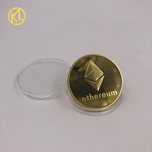 CO011 Eth Programming Ethereum Souvenir Bitcoin Splendid Gold Plated Commemorative Collectible Physical Coins Programmer Amateur(China)