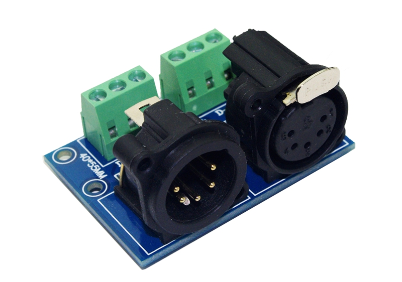 XLR5 3P DMX512 Relays Connector,3pin Terminal Adapter 5