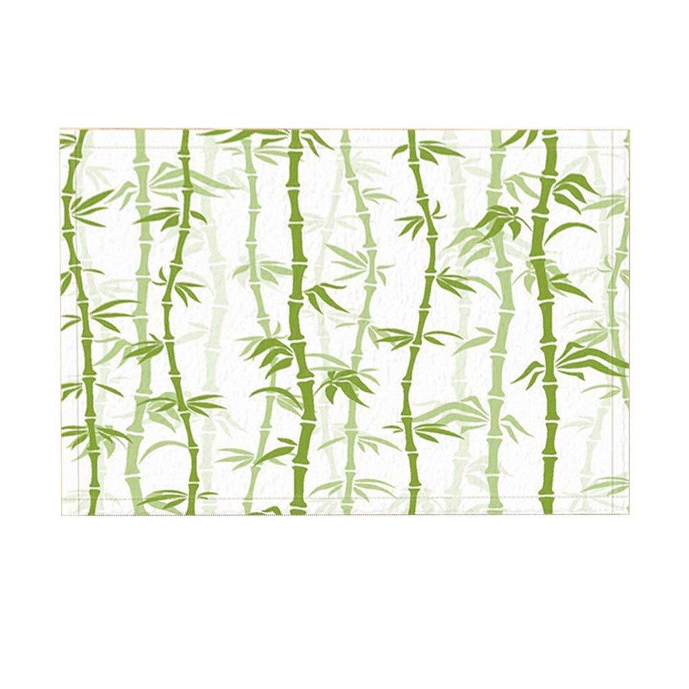 Antislip Creativiteit Bad Tapijten Door, Aziatische Stijl Bamboe Witte Achtergrond Art Printing Indoor/outdoor Deurmat