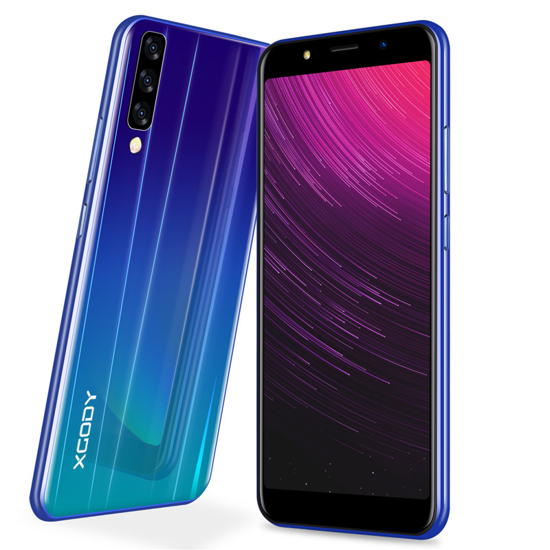 XGODY 6 Polegada 18:9 Tela Cheia 3G Desbloquear Smartphone Android 8.1 Quad Core 2 GB + 16 GB Móvel telefone 5MP 2500 mAh Telefone celular