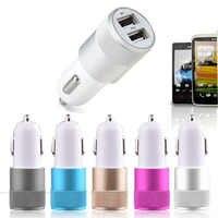 3,0/2,0 cargador de coche de aluminio dual USB Universal para iphone samsung xiaomi LG 3.1A cargador para auto universal carga rapida LED