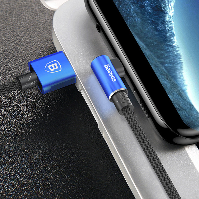Elbow Reversible Micro USB Data Fast Charging Cable