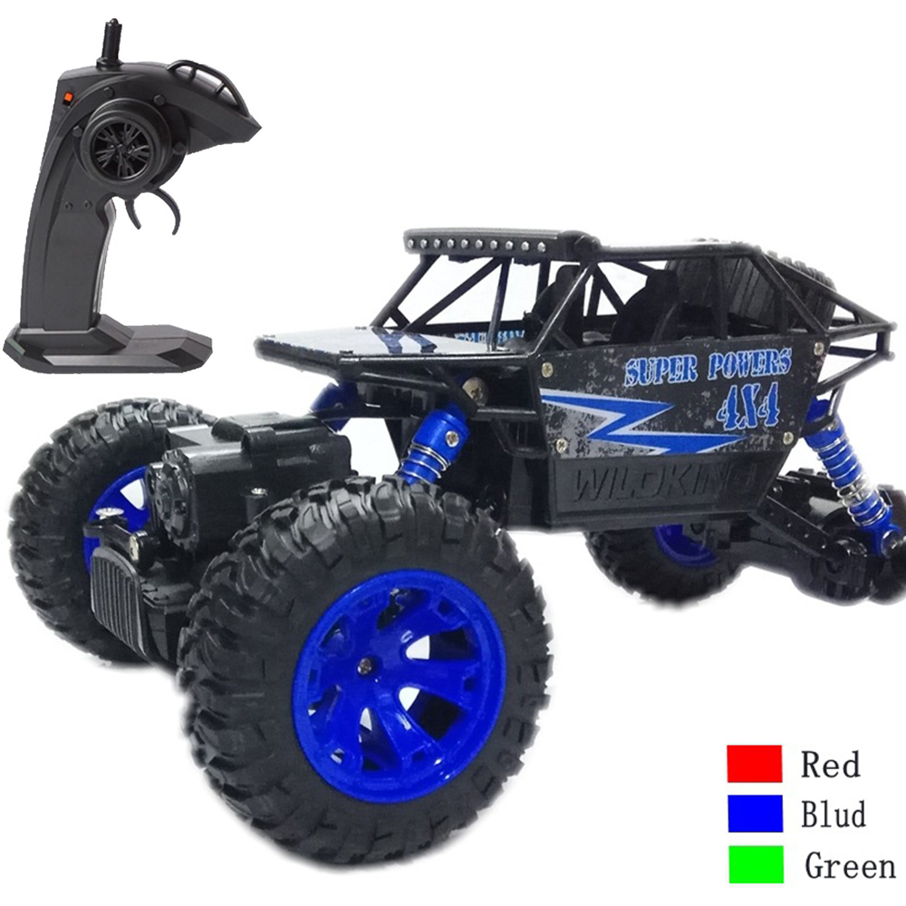 1:18 RC Car with Big Fooot Rock Off-road Climbing Car 2.4G Remote Control Car Charging Big Drift 4WD Drive Game Off-road Toy collins big road atlas europe