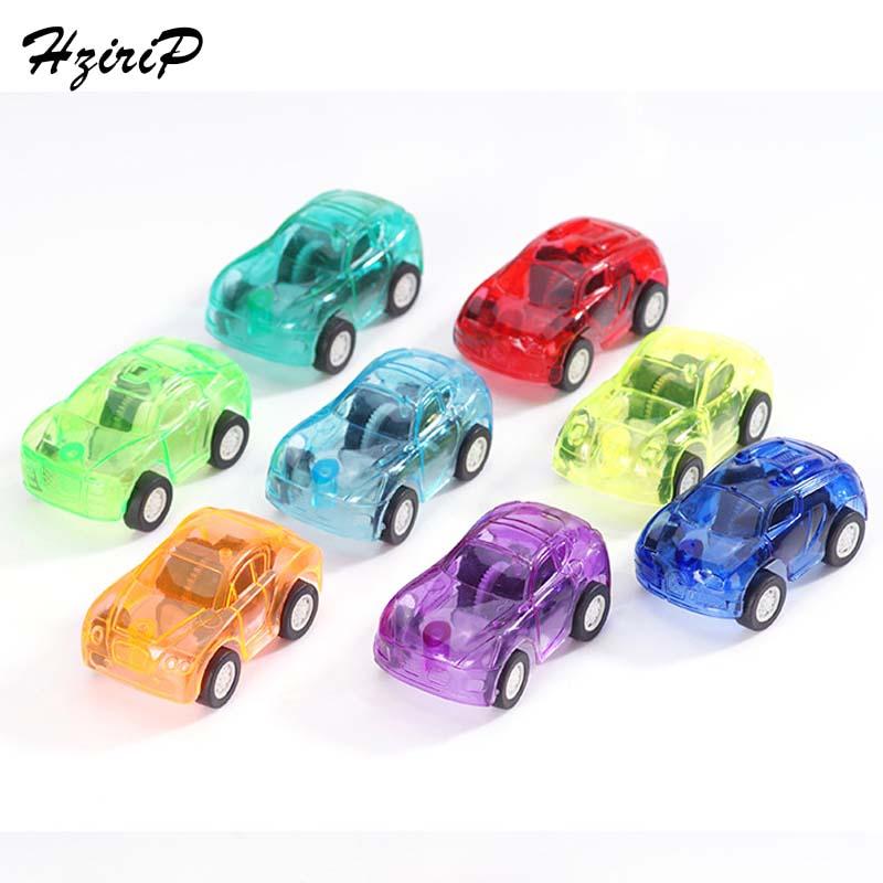 4Pcs/Lot Baby Mini Model Pull Back Toy Cars Kids Toys Plastic Transparent Car Cartoon Boy Favorite Educational Toys 8 Colors