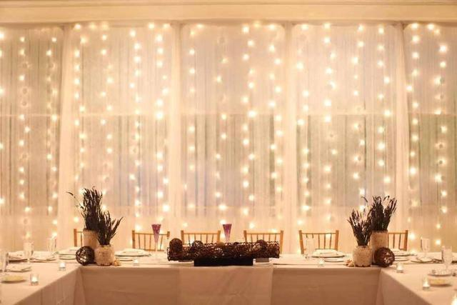 MMftft Remote Control Curtain Lights LED String Fairy - Curtain lights for bedroom