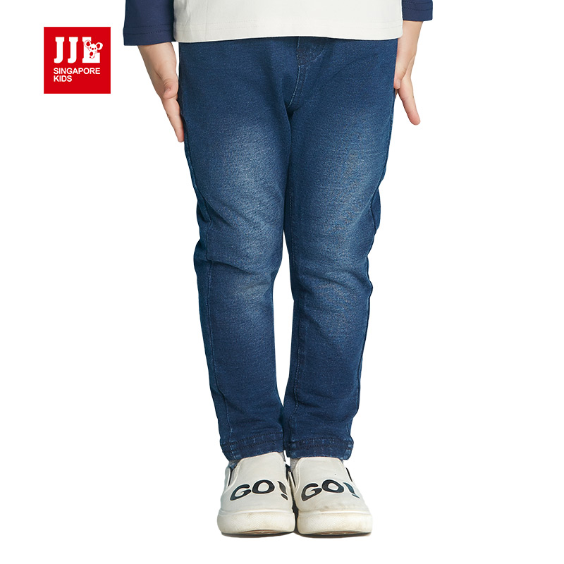 soft boys jeans elastic waist dark blue kids denim jeans children clothes boys trousers brand retail kids clothes 2016