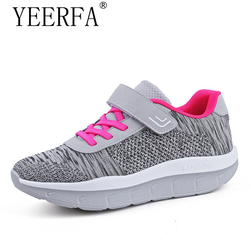 Women Platform Sneakers Slimming Swing Shoes Girls Outdoor Fitness Shoes Wedges Toning S ...