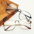 Nueva Llegada Marcos de Los Vidrios Para Las Mujeres de Los Hombres 2017 de Calidad Superior de Metal de oro Grandes Gafas de Marca Marcos Ópticos de La Vendimia UV400 Miopía Gafas