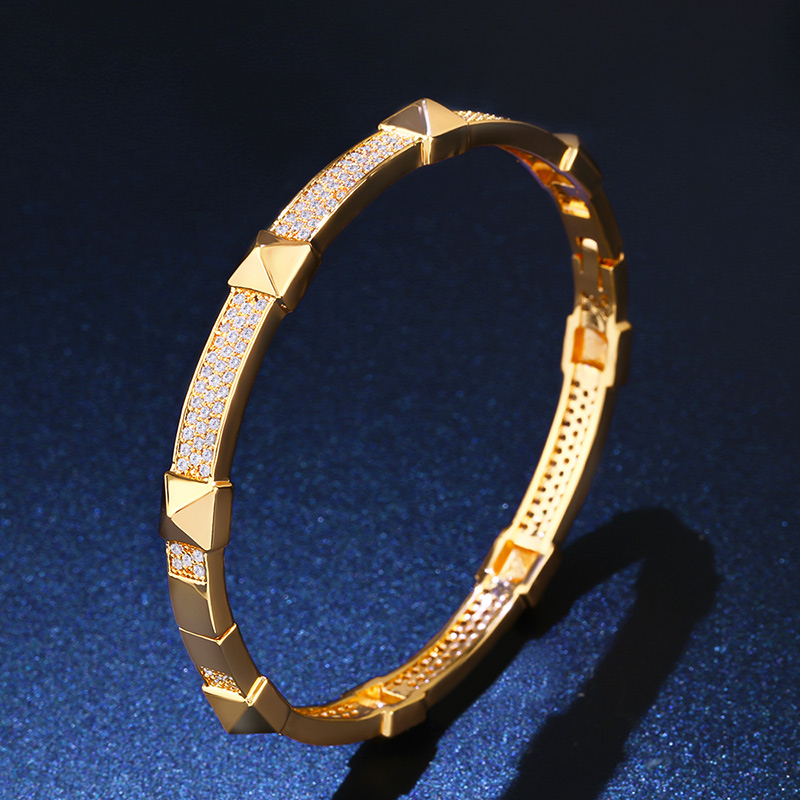 Ocesrio Carter Bracelet Women Genuine 18 Kk Gold Plating Dubai Bangles Bracelets For Jewelry Brt A79