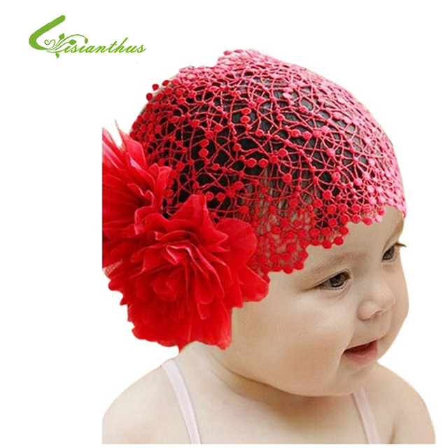 Newborn Baby Toddler Girls Headband Hat Beanie Flower Hair Band Lace Elastic New Hair Accessories Free Shipping