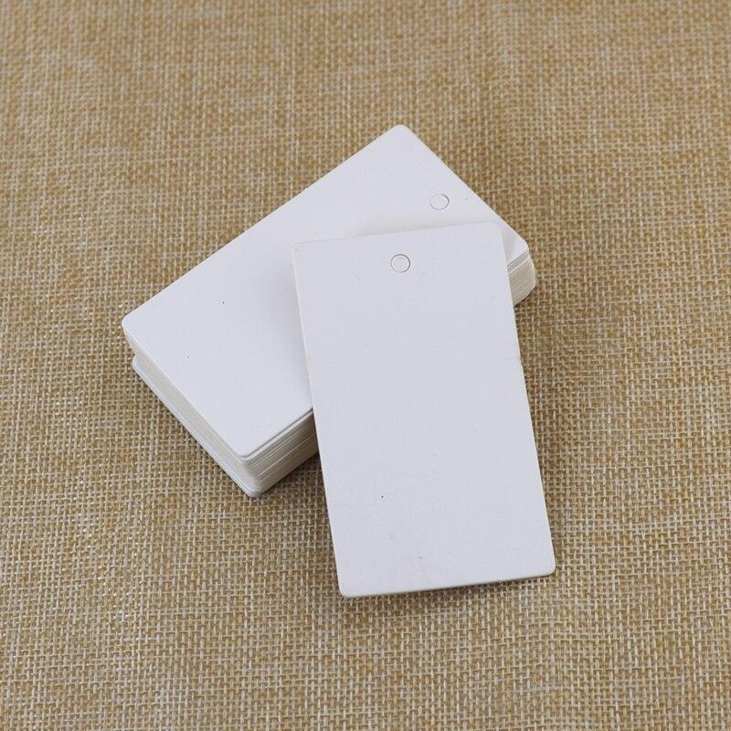 5000pcs 7.8cm x4.5cm Plains White kraft Paper Gift Cards/Tags for Wedding Decoration/DIY Card Making/Scrapbooking Paper Crafts