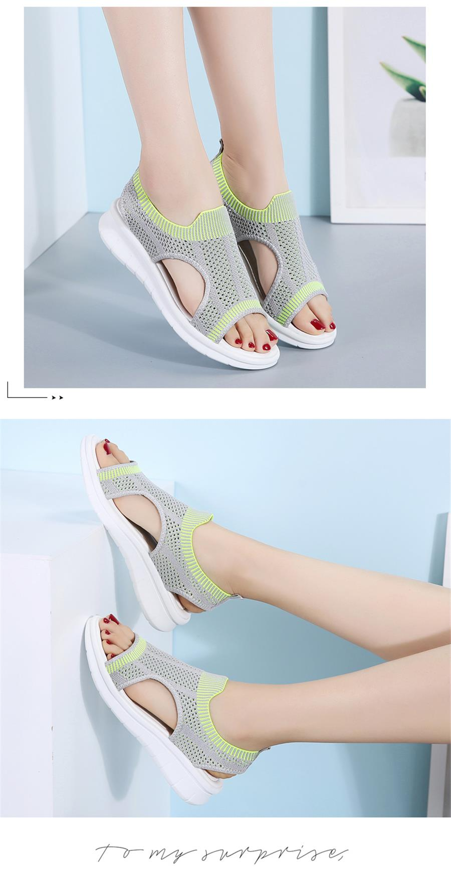 HTB1uBFjRXzqK1RjSZFvq6AB7VXay STQ Women sandals 2019 female shoes women summer wedge comfort sandals ladies flat slingback flat sandals women sandalias 7739