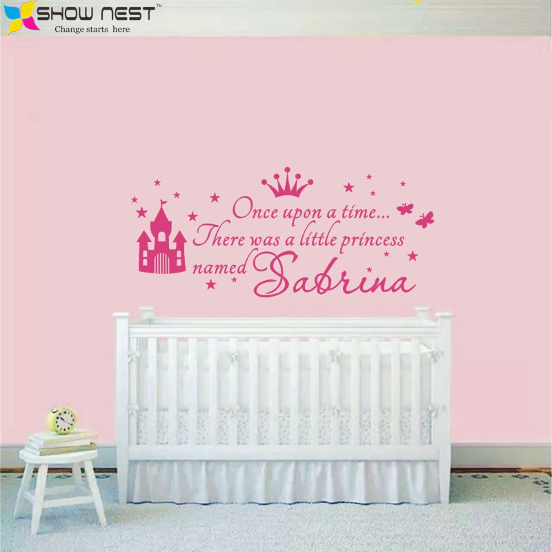 Aliexpress Com Buy Custom Princess Girl Name Decals Wall