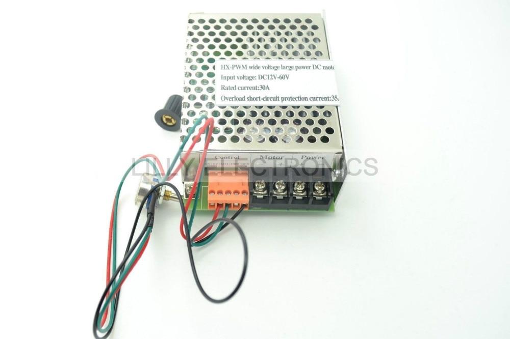 HX-PWM Input DC12V-60V Output 30A DC Motor Speed Controller Driver