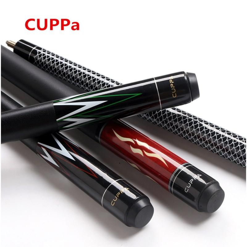 CUPPa billiard pool cue, cue tip 10.5mm / 11.5mm / 13mm, maple wood, 1/2 snooker cue for chinese billiards free shipping  new cuppa pool jump cue 13 5mm black bakelite tips punch