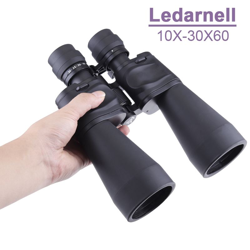 цена на Ledarnell 10-30X60 Hd power zoom binoculars Professional hunting telescope wide-angle High quality monocular telescope binocular
