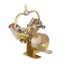 Heißer Mini V-Form Reine Kupfer Doppel Zylinder Dampf Motor Modell Spielzeug Kreative Geschenk Pädagogisches Spielzeug Geschenk Für Kind kinder Erwachsene
