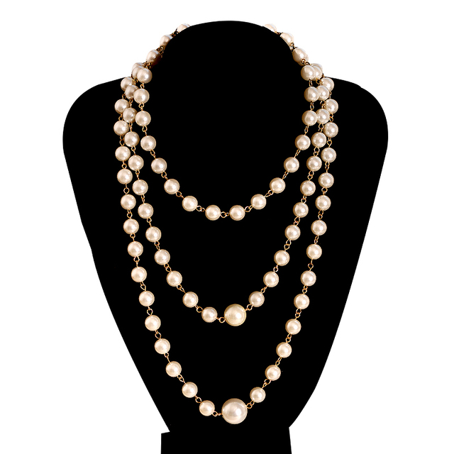 1c255181f5e3 Hot sell new fashion women's jewelry wholesale girl's birthday Christmas  beautiful white pearl necklace gift agent shipping
