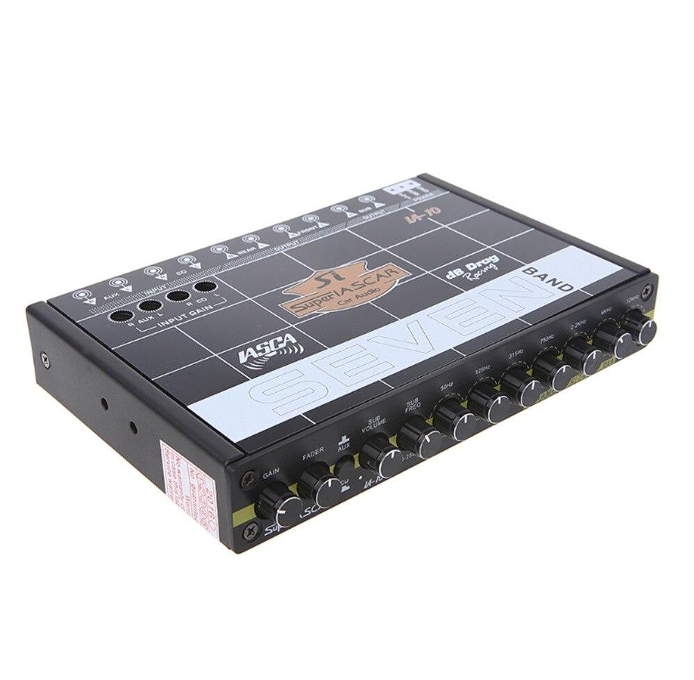 OOTDTY voiture Audio 7 bande égaliseur modifié voiture égaliseur égaliseur classe fièvre Audio voiture Tuner - 4