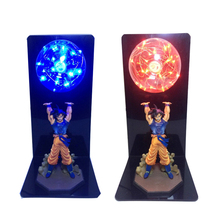 Leedome Dragon Ball Z Night Lamp Goku Strength Bombs Creative Table Decorative Home Light Kids DBZ Gift Toy LED