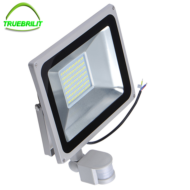 10W 20W 30W 50W PIR Motion Sensor LED Floodlight Induction Sense Outdoor Spotlight Flood Light IP65 White Warm White 85-265V lonati la04e7 la10p6 7 stockings machine use air latch opener d5920009