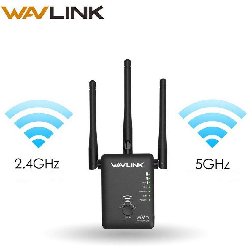 Wavlink wireless wifi extensor 750 mbps Wifi repetidor/router Dual Band 2,4 5 GHz Wifi Network Booster amplificador de señal de largo alcance