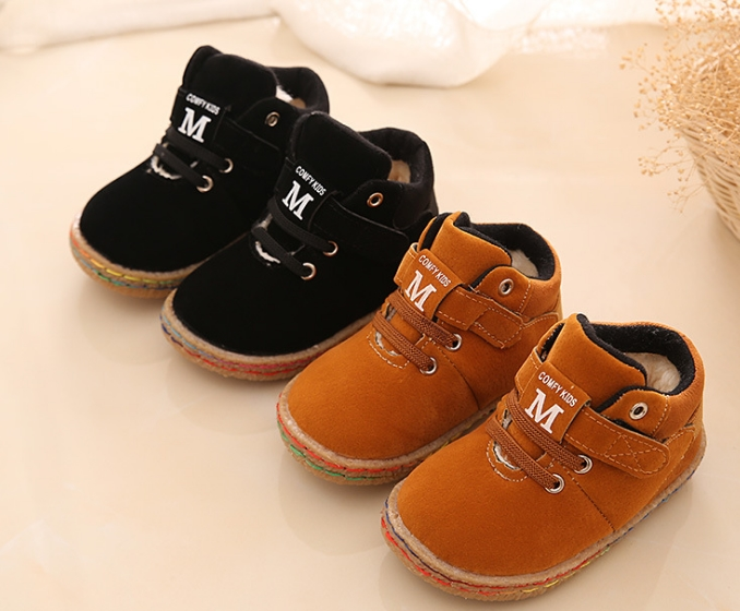 2018 Children Shoes Girls Boys Martin Boots Antislip Soft Bottom Kids Fashion Sneakers Comfortable West velvet(Baby/Little Kid) ...