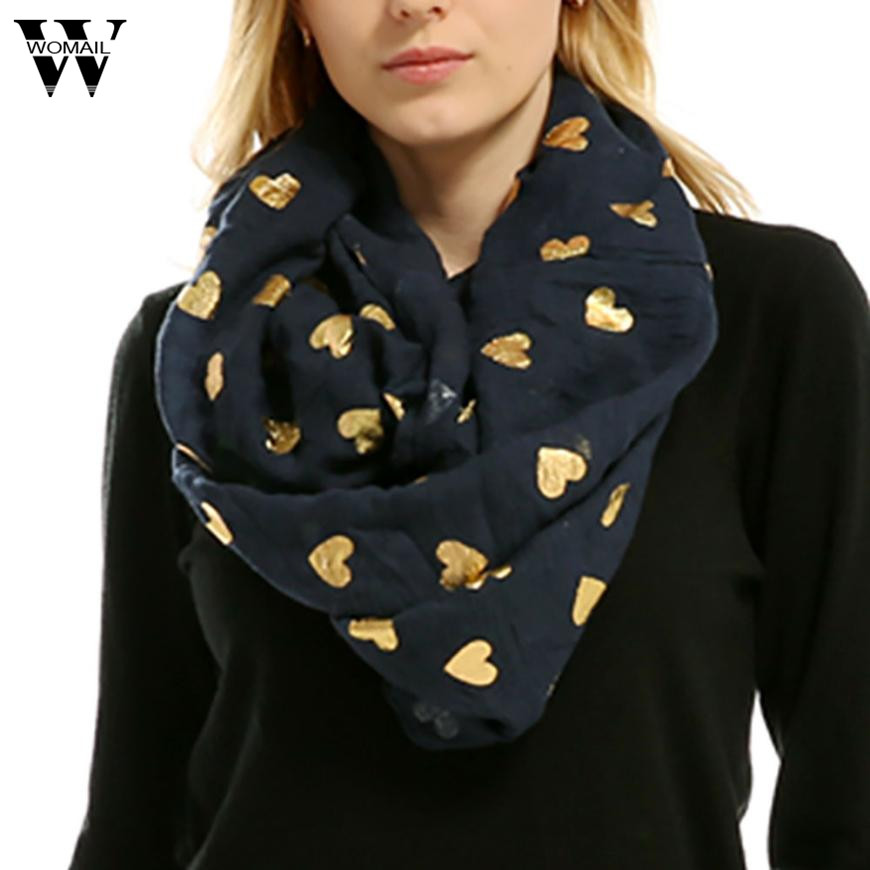 Lady Women Soft Heart-shaped Print Neck   Scarf     Wrap     Scarves   New Arrival Hot
