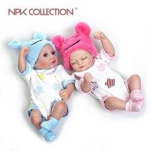 NPK 28cm mini bebe reborn bebek sıcak satış oyuncaklar silikon yeniden doğmuş bebek bebekler mini e N e n e n e n e n e n e n e n e n e Hediye Bonecas Noel sevimli bebek