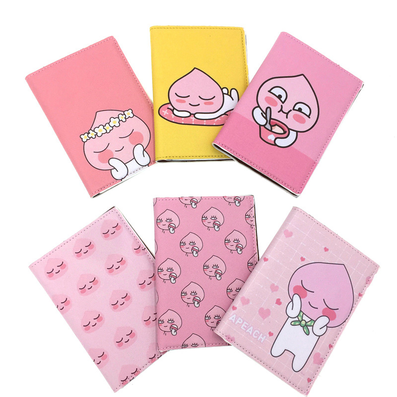 PU Leather Women Passport Cover Pink World Universal Travel Passport Ticket Holder Cover On The Passport Case Passport Pouch