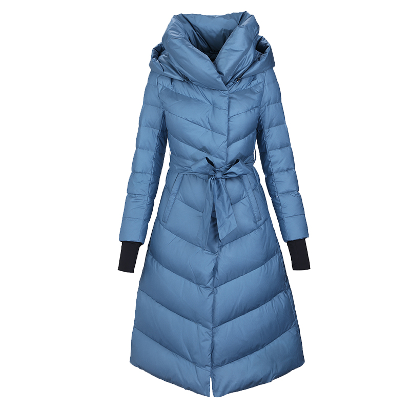 European Winter Women Parkas   Down     Coats   Jacket Lady Warm Slim Outerwear Overcoat Plus Size LF4205