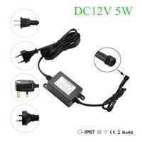 IP67 Waterproof DC12V 5W Transformer Power Supply Driver for LED Light Outdoor or Indoor EU,US,UK,AU plug