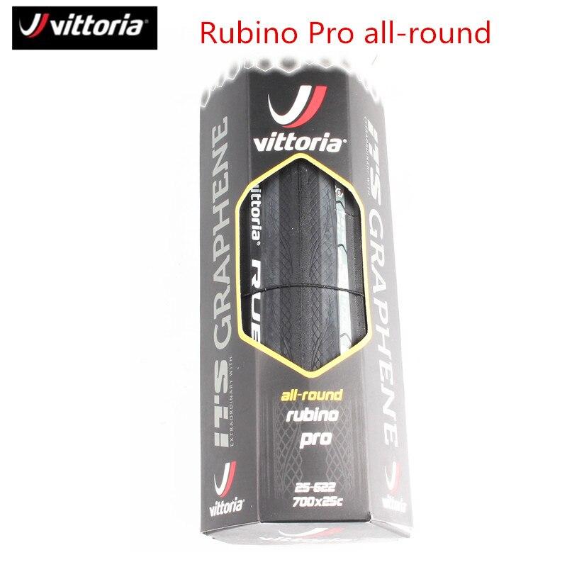 Vittoria Rubino Pro vélo de route tout rond pneu graphène 700x25C noir