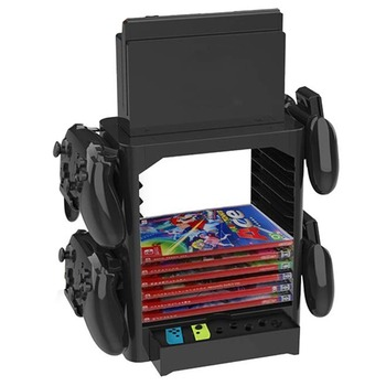Universal Multifunction Disk Storage Tower Case Game Card Box Storage Holder Stand Bracket for Nintend Switch Console Controlle