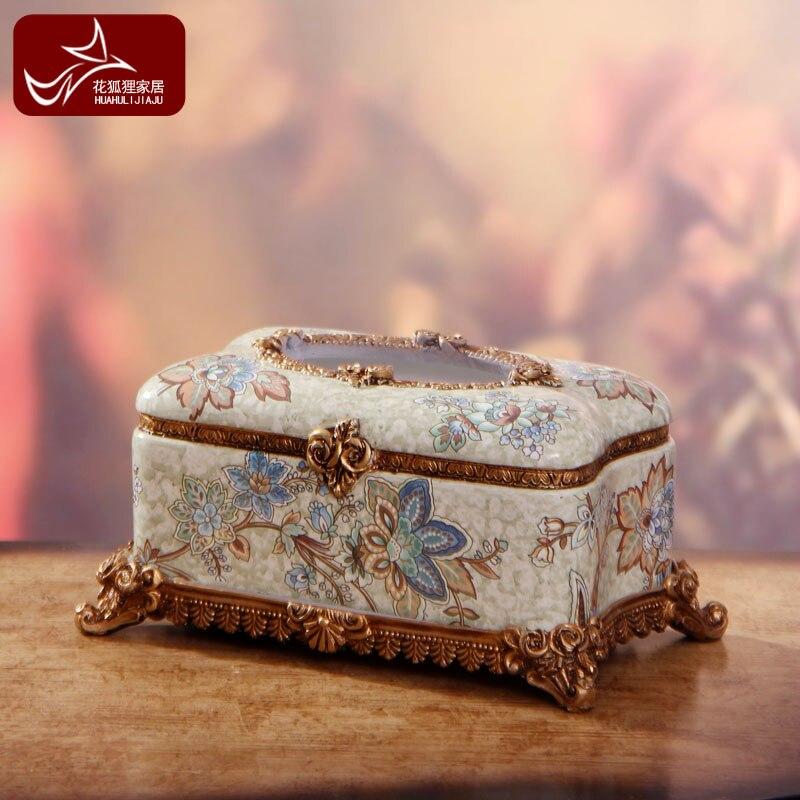 Style européen salon décoration accessoires de mode ameublement résine artisanat boîte de luxe