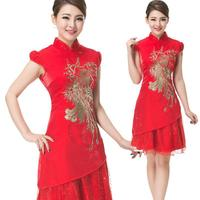 Hotel Uniforms Are Improved Summer Chinese Fashion Clothing Lace Phoenix Cheongsam Dress Welcome J218