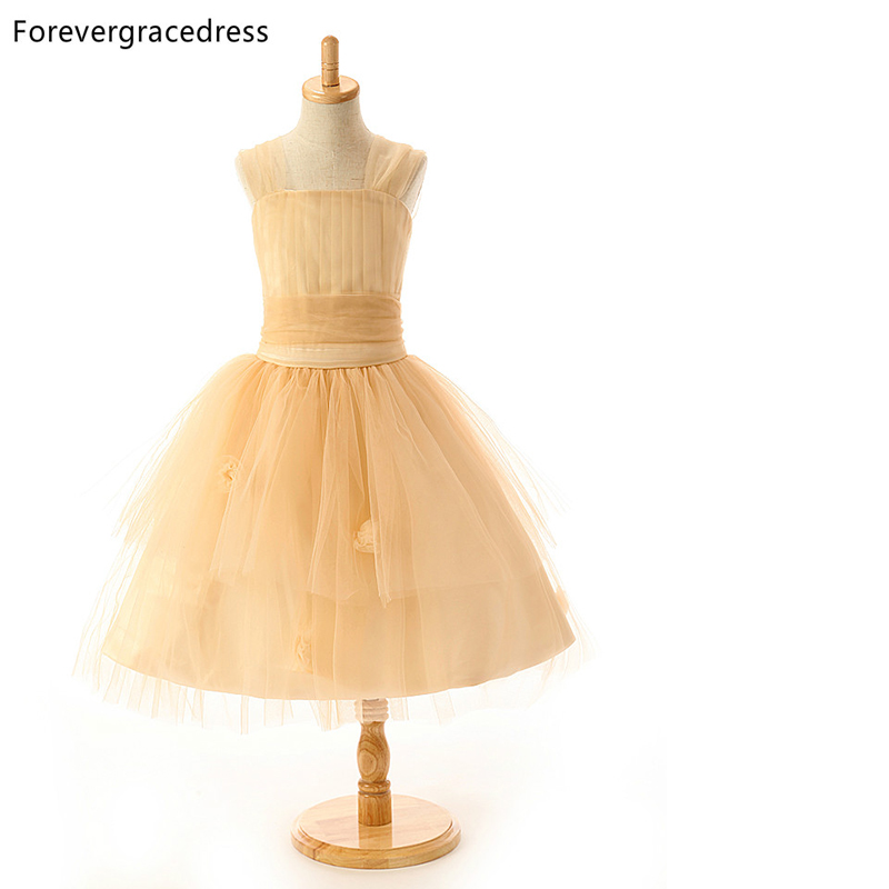 Forevergracedress Real Photos   Flower     Girl     Dress   High Quality Tulle Children Pageant Gown Plus Size Custom Made